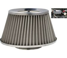 Grey Induction Kit Cone Air Filter Honda Civic Tourer 2014-2016