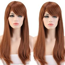 Long Black Straight Full Wig Heat Resistant Synthetic Cosplay Costume Dress j75