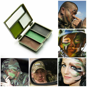 Camouflage GI/Army/Military 5 Colour Face Paint Set With Mirror & Case Dress Up