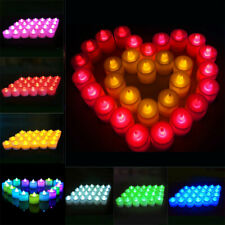 12/24/36Pcs LED Candles Tea Lights Flameless Battery Operated Wedding Xmas Lamps