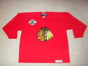 VTG Rare sewn CCM Chicago Blackhawks Red 2XL Center Ice Practice Jersey Adult
