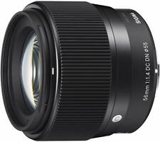 Sigma 56mm F1.4 DC DN Contemporary For Sony E, Black. NEW. UK 3 Year Warranty.