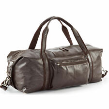 New Genuine Leather Brown X Large Leather Duffel Holdall Travel Hand Bag RRP£300