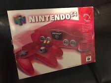 Nintendo 64 Funtastic Watermelon Red Console Original Authentic Complete CIB