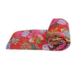 Kantha Quilt Handmade Bedspread Blanket Indian Kantha Throw Bedding Bed Cover