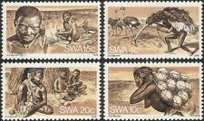 SWA 1978 Bushmen/Ostrich/Fire Making/Hunting/Birds/Nature/Music 4v set (n19961)