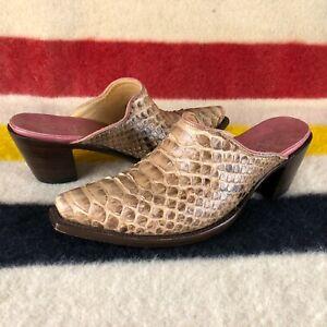Old Gringo Brown Tan Leather Mules Slides Sz 8.5 B US C031