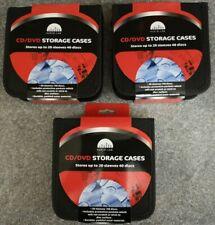 More details for 3 x 40 cd/dvd storage wallet car disc holder carry case pocket protector sleeve