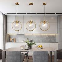 3X Bar Pendant Light Kitchen Lamp Glass Chandelier Lighting Room Ceiling Lights