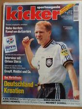KICKER 52- 24.6. 1996 *EM-VF Deutschland-Kroatien 2:1 Spanien-England 2:4 Sammer