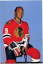 "Vintage Chicago Blackhawks Bobby Hull 4 x 6"" Team Issued Postcard NM"