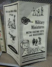 HOME FOUNDRY Military Miniatures catalog Chicago toys 1950s metal casting sets