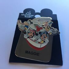 WDW - Monorail MAGGIE Name Pin FAB 4 Mickey Minnie Goofy Donald Disney Pin 15004