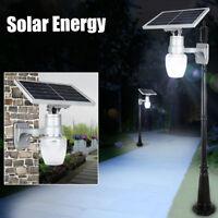 6W Solare LED Sensore Luce Faretto Lampada Giardino Parete Impermeabile !