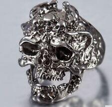Edelstahlring Schädel Skull Skelett Skeleton Gothik Biker Gr. 13