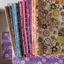 50PC 10x10cm Fabric Bundle Stash Cotton Patchwork Sewing Quilting Tissue Cloth.