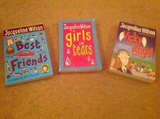 Jacqueline Wilson paperback books -Best Friends, Girls in Tears & Vicky Angel