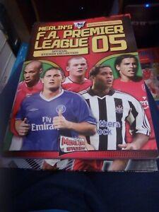 Complete Merlin Premier League Sticker Album 05 2005