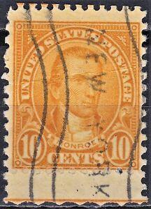 United States 1923 Scott 562 used interesting perforation at the bottom