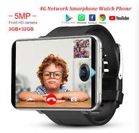 DM100 SmartWatch Phone 4G LTE 3GB+32GB Google Play Android 7.1 GPS WiFi Black