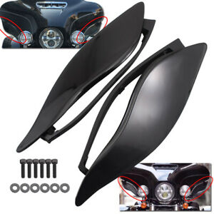 Adjustable Side Wings Wind Air Deflector for Harley Touring Street Glide 2014-19
