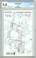 Madame Mirage #1 CGC 9.8 White Pages (2007) 2078673008 Sketch Cover