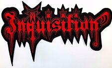 INQUISITION  RED LOGO    EMBROIDERED BACK PATCH
