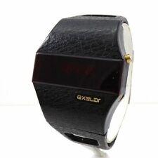 RARE VINTAGE SPACEAGE EXELAR LED / LCD DIGITAL WRISTWATCH Watch QZE5