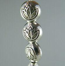140pcs Tibetan Silver Flower Design Flat Bead Spacers 8x5.5mm zn60271