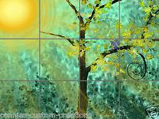 Golden Glaze Tile Mural Decorative Window Back Splash Ceramic Artistic Picture