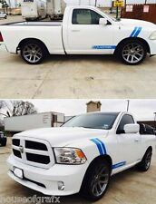 Custom ROCKER & FENDER stripe stripes decals grafx fit Dodge Ram Dakota SRT