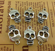 4//10//30pcs retro style pirate captain skull alloy charms pendant DIY 43x33mm
