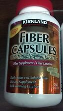 Kirkland Fiber Capsules 360 Ct supplement laxative soluble bulk forming