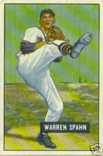 Bowman 1951 Warren Spahn Baseball Card #134