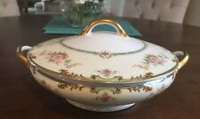 NORITAKE CLINTONIA FLORAL SPRAYS  ROUND VEGETABLE DISH with Cover