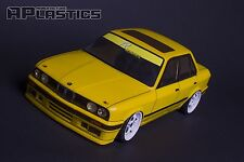 NEW APlastics RC Drift touring car body shell 1:10 BMW 3 E 30 sedan style