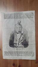 1873 Illustrazione Popolare: Monumento di Luigi Canina a Casale Monferrato