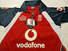 Admiral England Cricket Jersey Vodafone 3 Lions Men's Small NWT