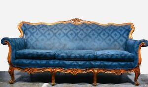 BEAUTIFUL 19th CENTURY FRENCH 3 SEATER SOFA 1900c