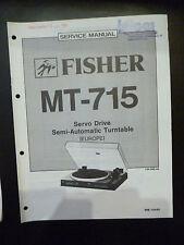 Original Service Manual Fisher MT715
