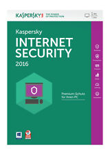 Kaspersky Lab Internet Security 2016 1 User KL1867GBAFS