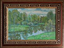 Russian Impressionistic 20th Century Landscape Oil Painting by Victor Gaiduk