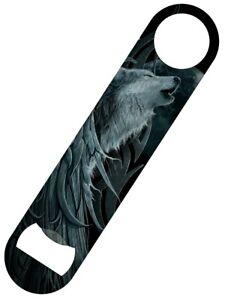 Spiral Bottle Opener Wolf Spirit Bar Blade Black 18x4cm