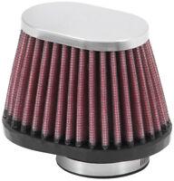 "RC-2450 K&N Universal Chrome Air Filter 1-3/4""FLG, 4 X 2-7/8""B, 3 X 2""T, 2-3/4""L"
