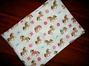 CIRCO PRETTY HORSES BROWN PINK PONIES (1) STANDARD PILLOWCASE 20 X 29