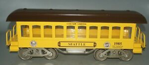 MCCOY STANDARD GAUGE1985 TCA SEATTLE CASCADE LIMITED TIN PLATE PASSENGER CAR