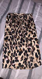 Leopard Print Wrap Round Skirt Size 16