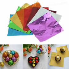 100pcs 8 * 8cm Square Wrappers Foil Paper For Candy Sweets Chocolate lolly Tea