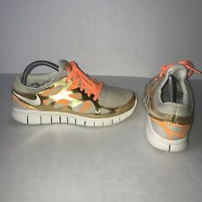 d932a5d20f999 Women s Nike Free Run 2 Running Shoes Size 9.5 Orange Gold 555340-202