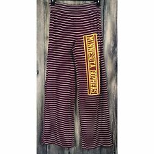 Nwt University of Minnesota Gophers Maroon Stripe Small Margo Lounge Flare Pants